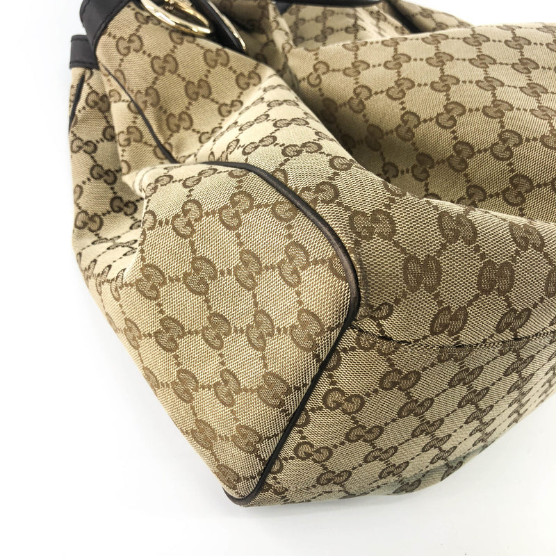 Brown GG Supreme Canvas & Leather Sukey Tote Bag - Bag Religion