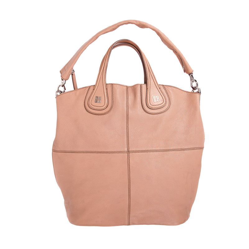 Nightingale Satchel Large in Beige with pink interior - Bag Religion