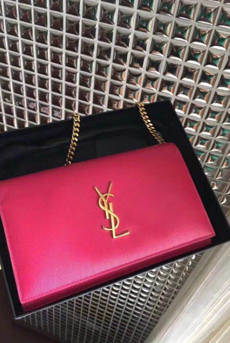 Classic Monogram Kate Bag in Deep Pink with Gold Hardware - Bag Religion