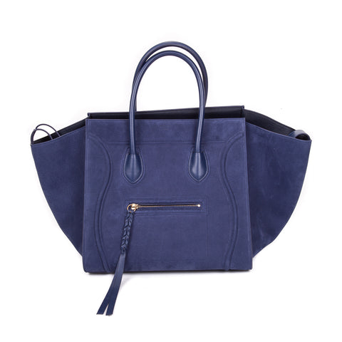 Sac De Jour Small in Embossed Croc Electric Blue