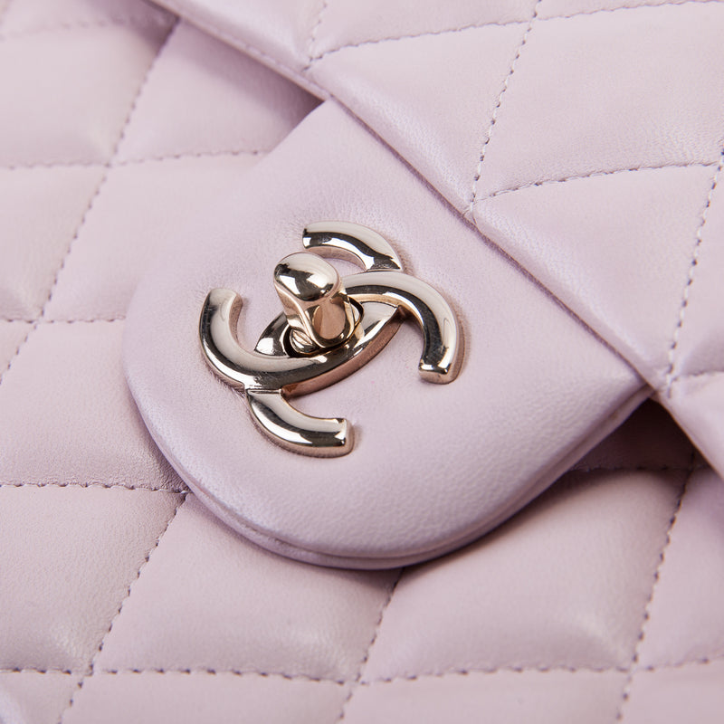 Double Flap Lambskin Jumbo in Pastel Pink with Pale GHW - Bag Religion