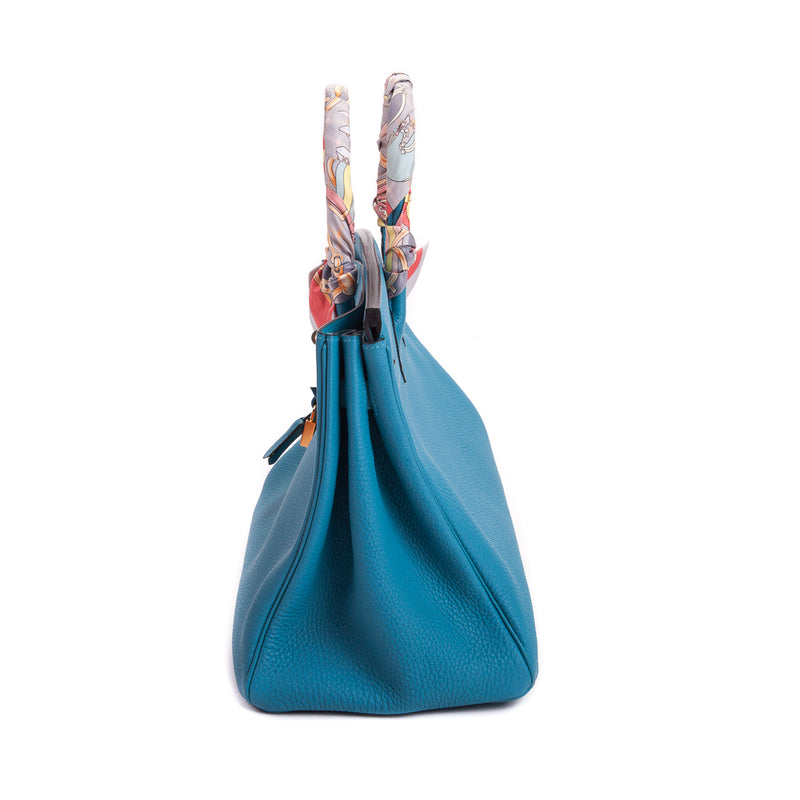 Birkin 35 in Turquoise Togo Leather - Bag Religion