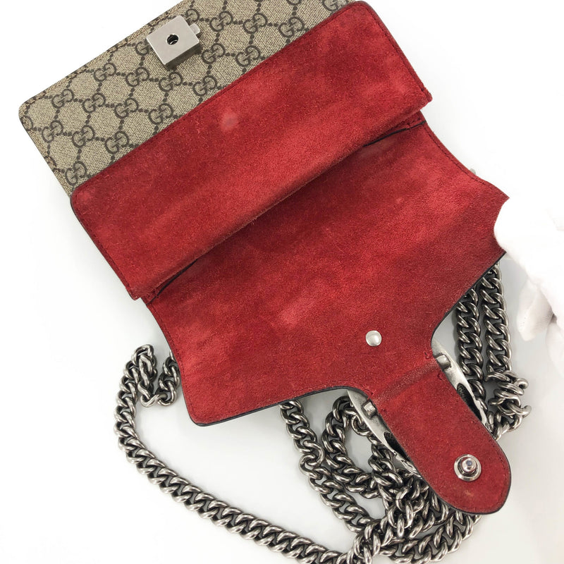 Dionysus GG Mini Shoulder Bag with Red Detail - Bag Religion