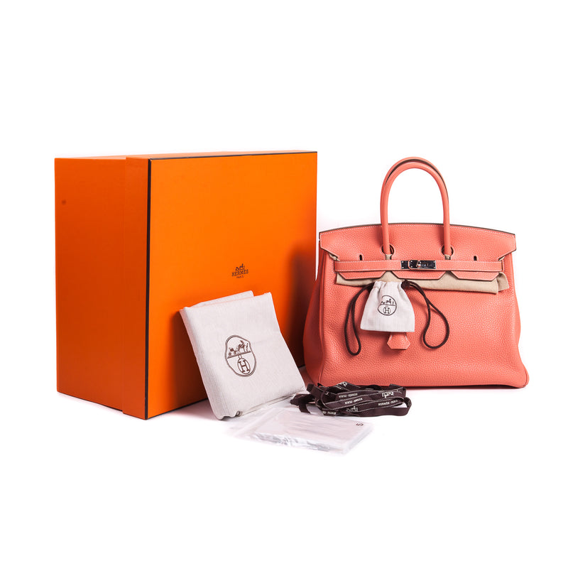 Birkin 35 Crevette in Clemence Leather with PHW - Bag Religion