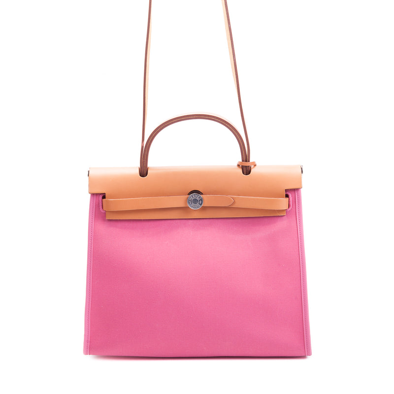 HerBag PM Top Handle in Pink Canvas - Bag Religion