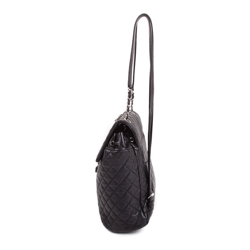 Black Quilted Lambskin Large Backpack - Bag Religion