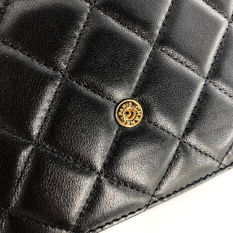 Boy Wallet on Chain in Black Quilted Lambskin - Bag Religion