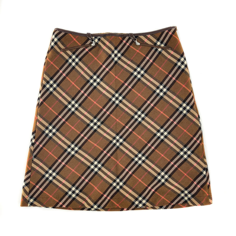Blue Label Trapezoid Skirt in Nova Plaid - Bag Religion