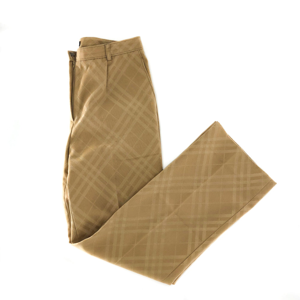Zip Fly Slacks in Beige Nova Plaid - Bag Religion
