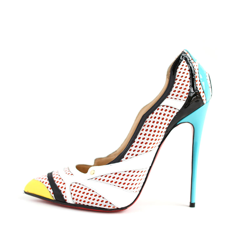 So Kate in Pop Art 120mm Heel - Bag Religion