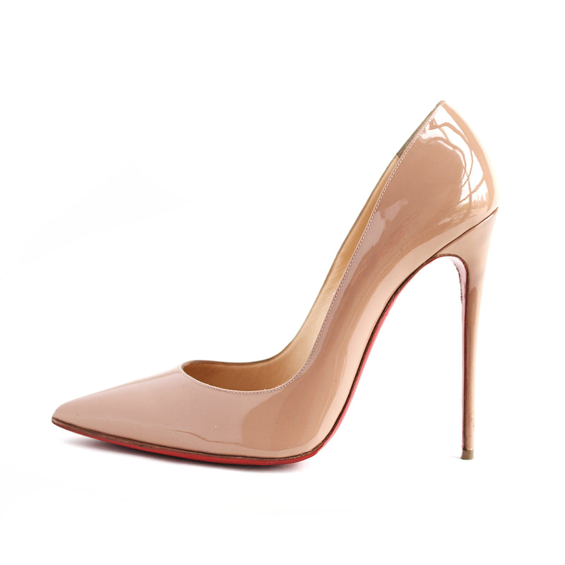 So Kate in Patent Nude 120mm - Bag Religion