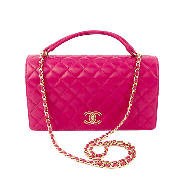 Tie Handle Flap bag in Dark Pink - Bag Religion