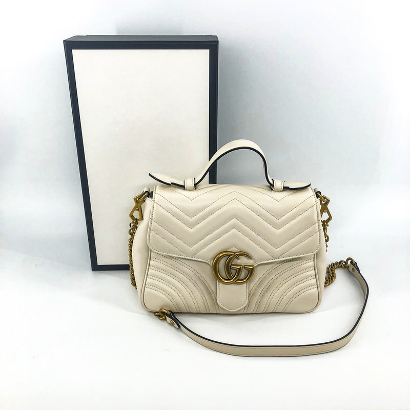 GG Marmont Chevron Top Handle Bag - Bag Religion