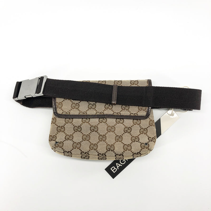 GG Monogram Waist Bag with Silver Front Clasp - Bag Religion