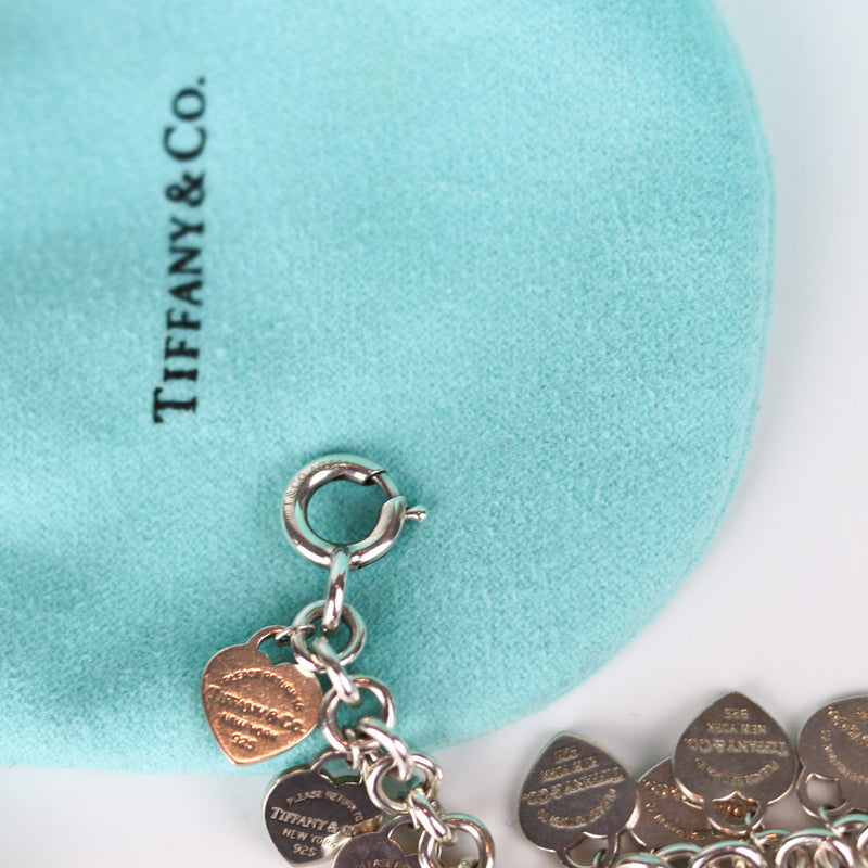 Return To Tiffany Multi–Heart Tag Silver Bracelet