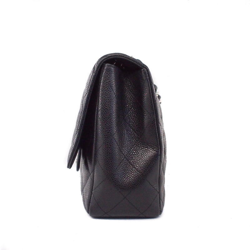 Single Flap Classic Jumbo in Black Caviar with SHW - Bag Religion