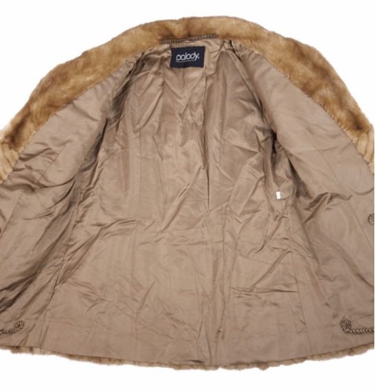 Soft Mink Fur Ladies Coat in Beige - Bag Religion