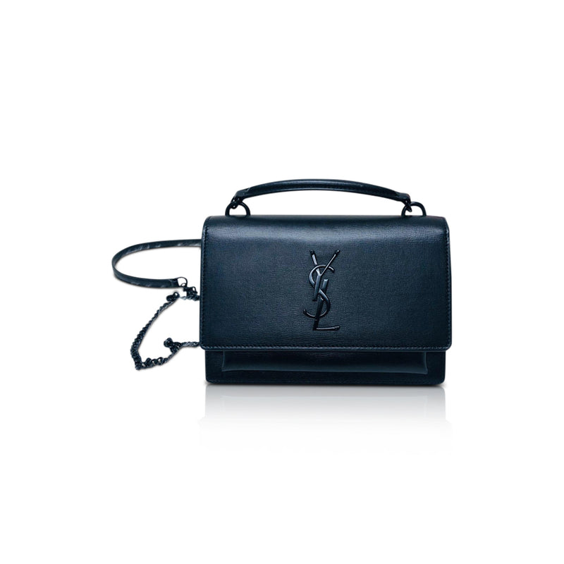 Black Sunset Monogram Crossbody Bag on Chain