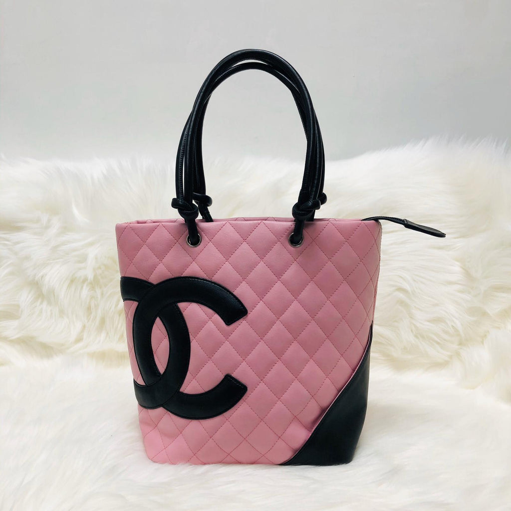 Cambon Ligne Quilted Tote Bag in Pink