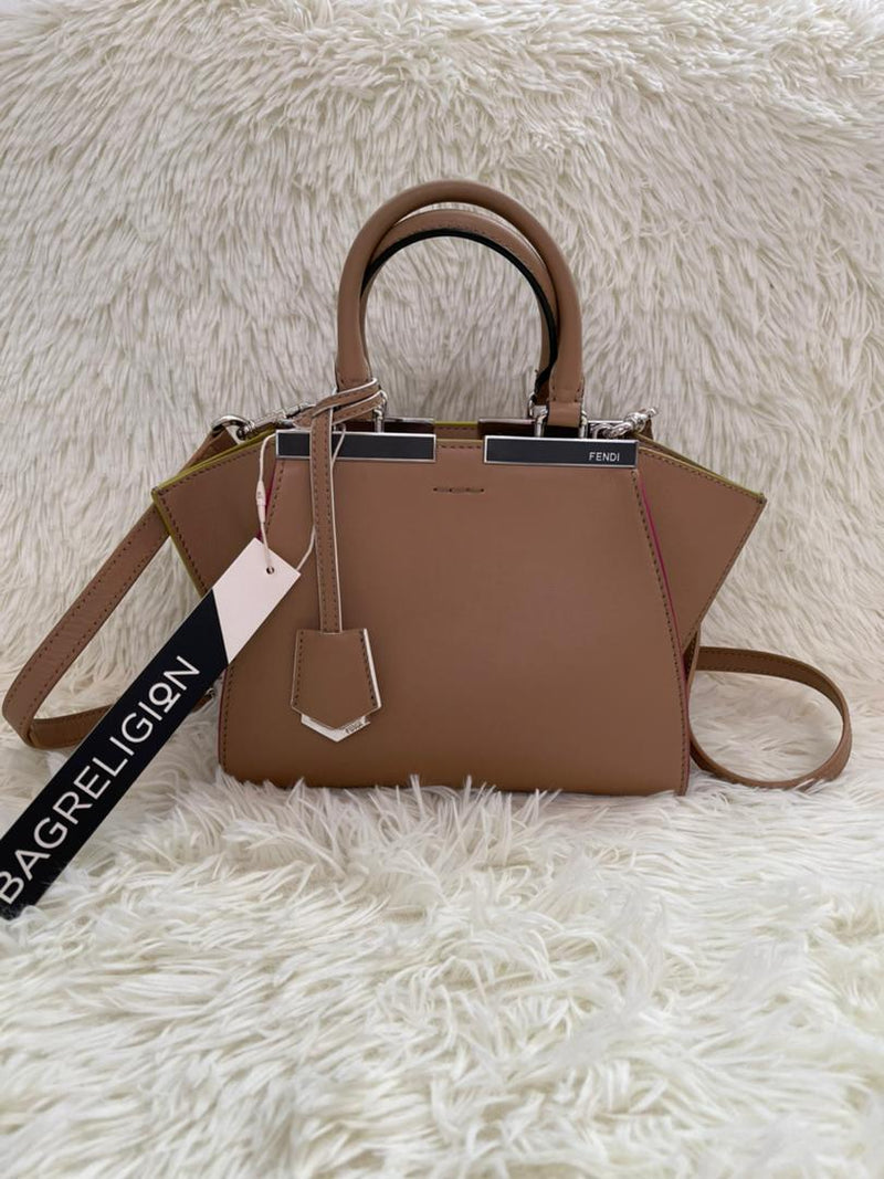 3Jours Mini Tote Bag Brown