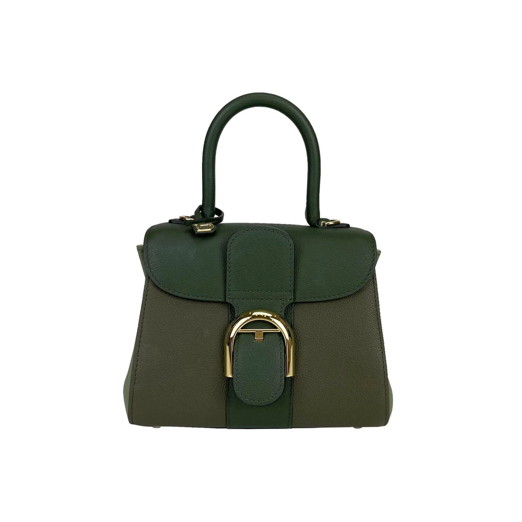 Brillant Mini Tri-colour Sellier Bag in Green with GHW