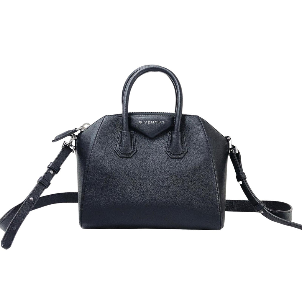 Mini Antigona Bag in Black in SHW