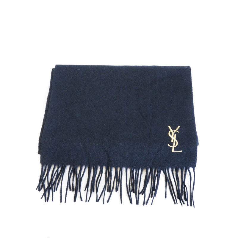 Pure Wool Scarf Black with gold monogram - Bag Religion