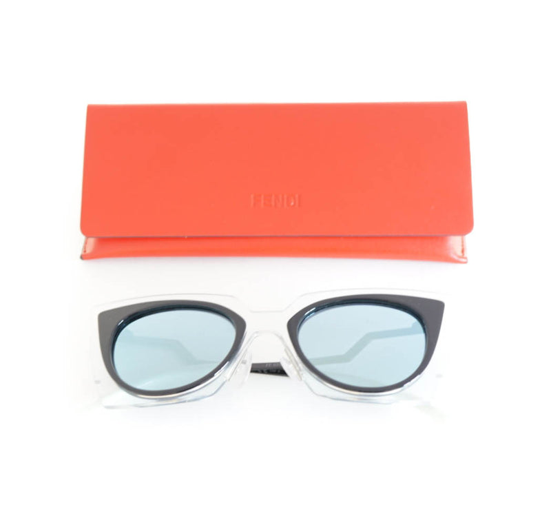 Two Tone Cat Eye Sunglasses with orange case - Bag Religion