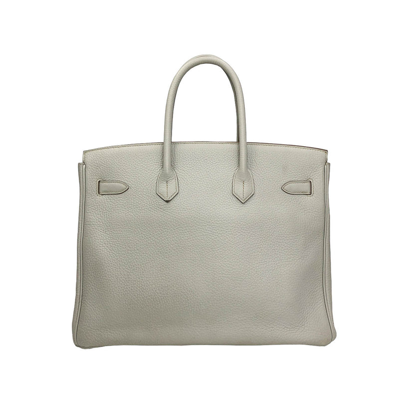 Birkin 35 Gris Perle Clemence Leather with Palladium Hardware - Bag Religion