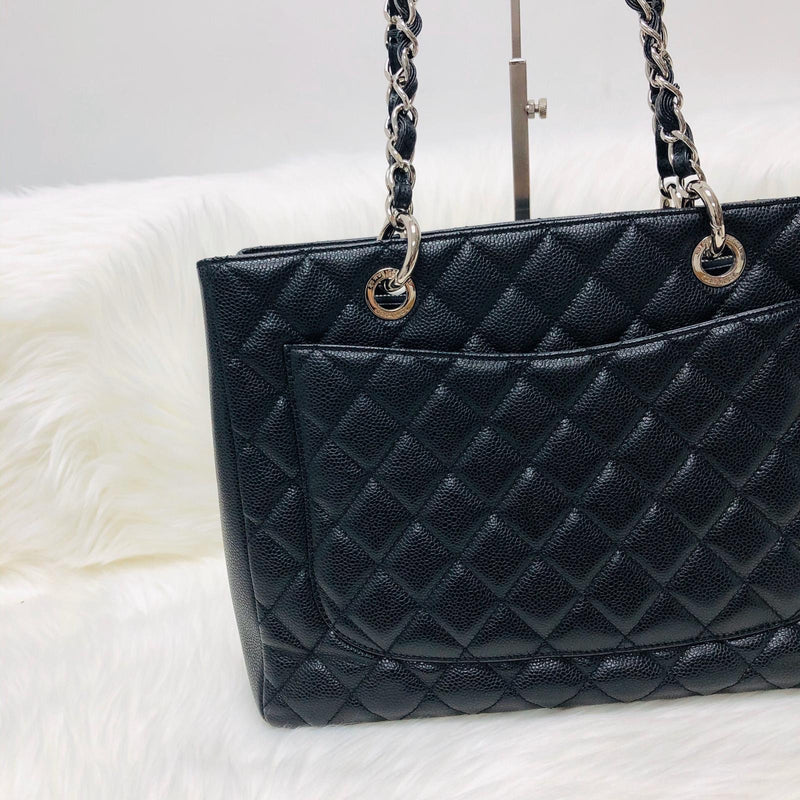 Chanel Black Caviar GST in Black with SHW