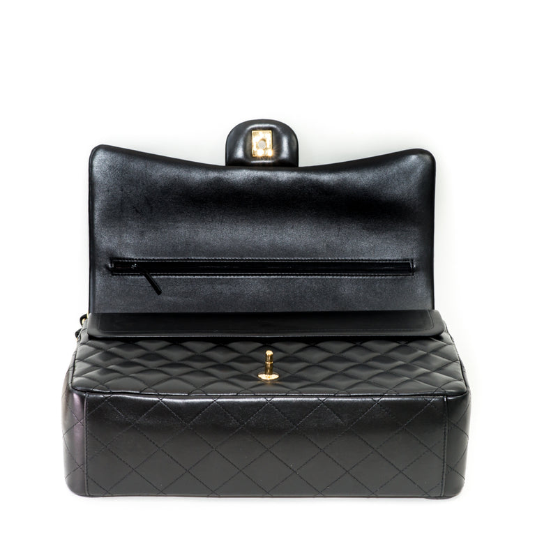 Double Flap Maxi in Black Lambskin with GHW - Bag Religion