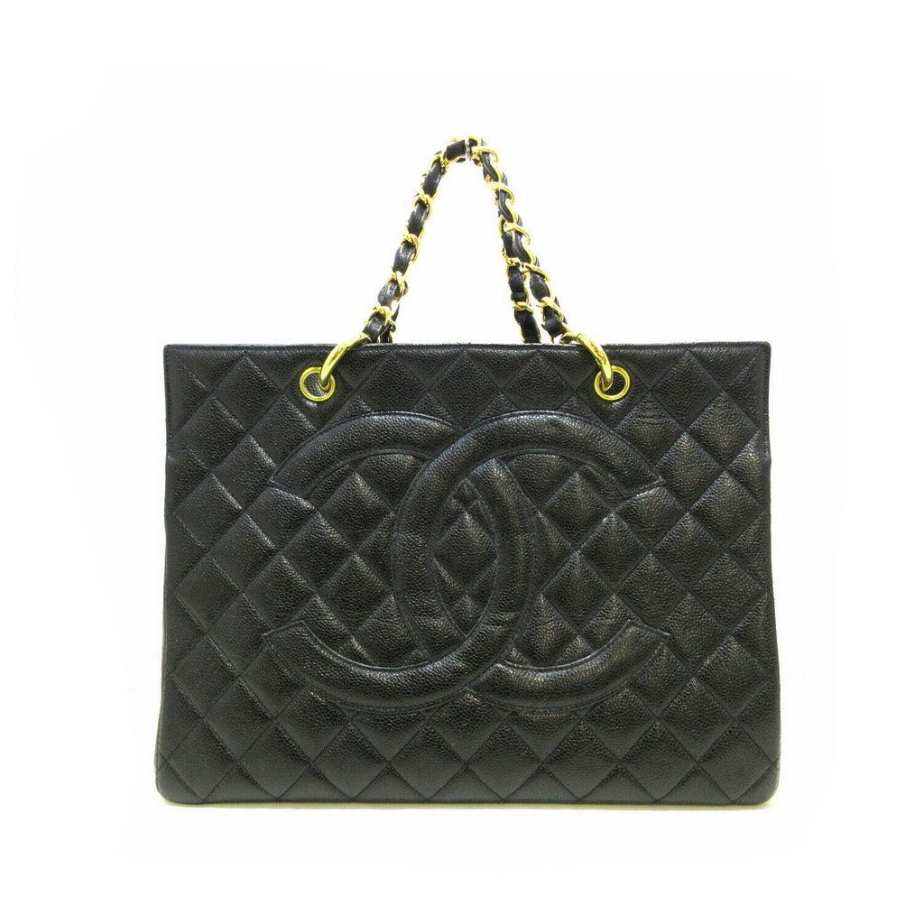 Vintage Quilted Caviar CC Tote Black