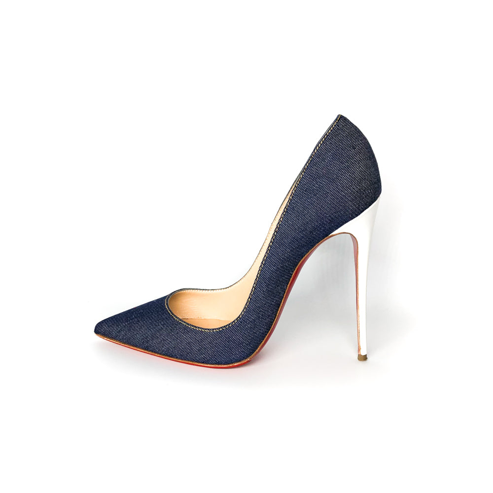 So Kate 120mm Denim Pumps - Bag Religion