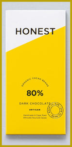 Honest Chocolate Slab 80% - Dark Chocolate