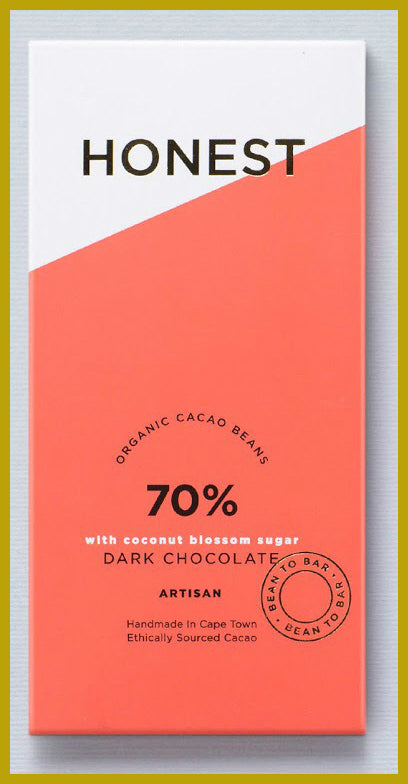 Honest Chocolate Slab 70% - Coconut Sugar