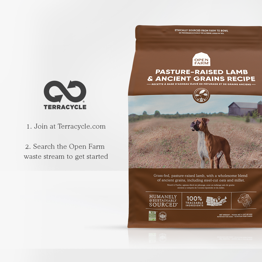 Open Farm Lamb Dry Dog Food recycling