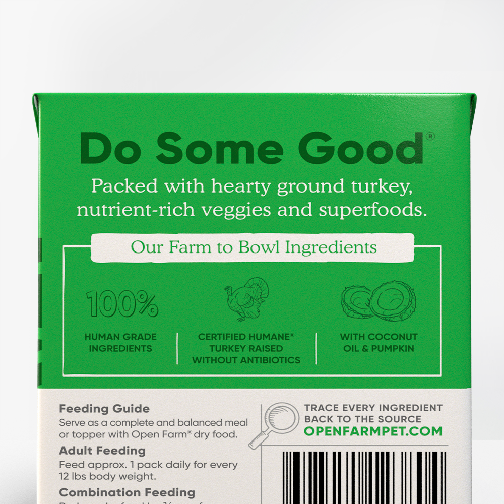Open Farm Turkey for Dogs Ingredient Information