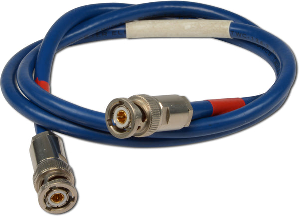 Cable, Shielded Twisted Pair, 124 Ohm Triax to Triax, Length in inches