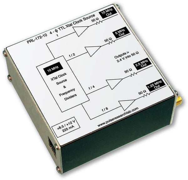 4-Phase TTL Clock Source (f, f/2, f/4, f/8), SMA Outputs