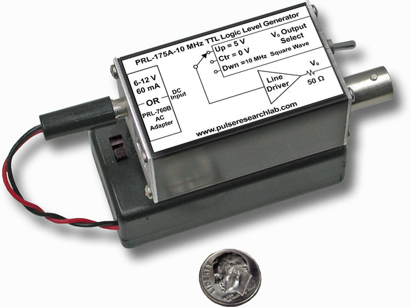 PRL-175A-10, Battery Operated TTL Logic Level Generator and 10 MHz CLK Source, 10 MHz Clock Frequency