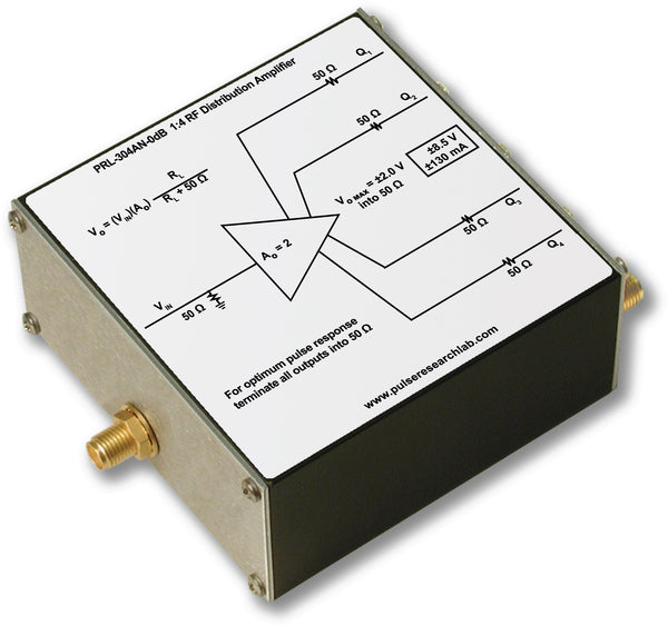 1:4 RF Distribution Amplifier, 0 dB