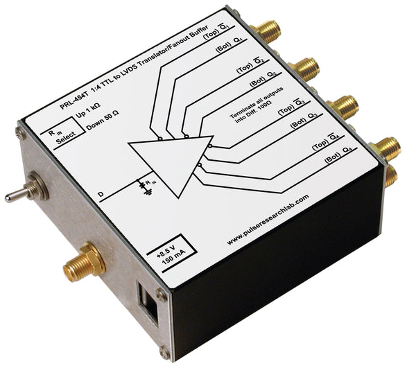 PRL-454T, 1:4 TTL to LVDS Translator and Fanout Buffer