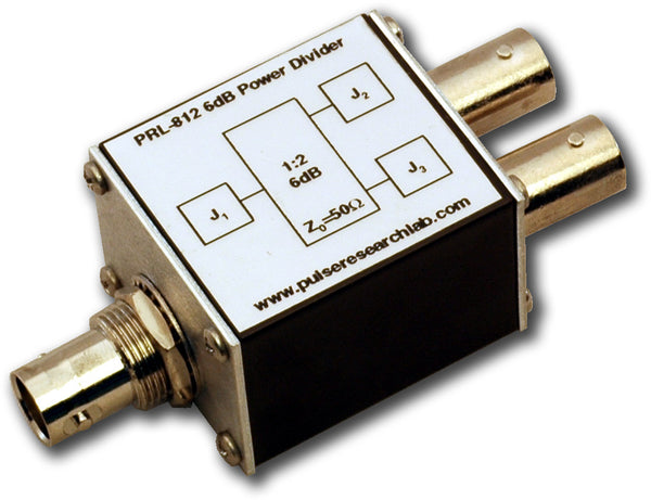 PRL-812-BNC, 6 dB (1:2) RF Power Splitter, BNC I/O Connectors
