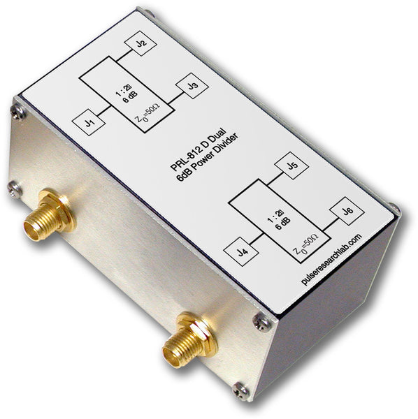 PRL-812D, Dual Channel, 6 dB (1:2) RF Power Splitter, SMA I/O Connectors