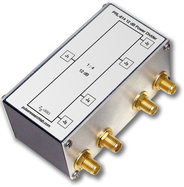 PRL-814, 12 dB (1:4) RF Power Splitter, SMA I/O Connectors