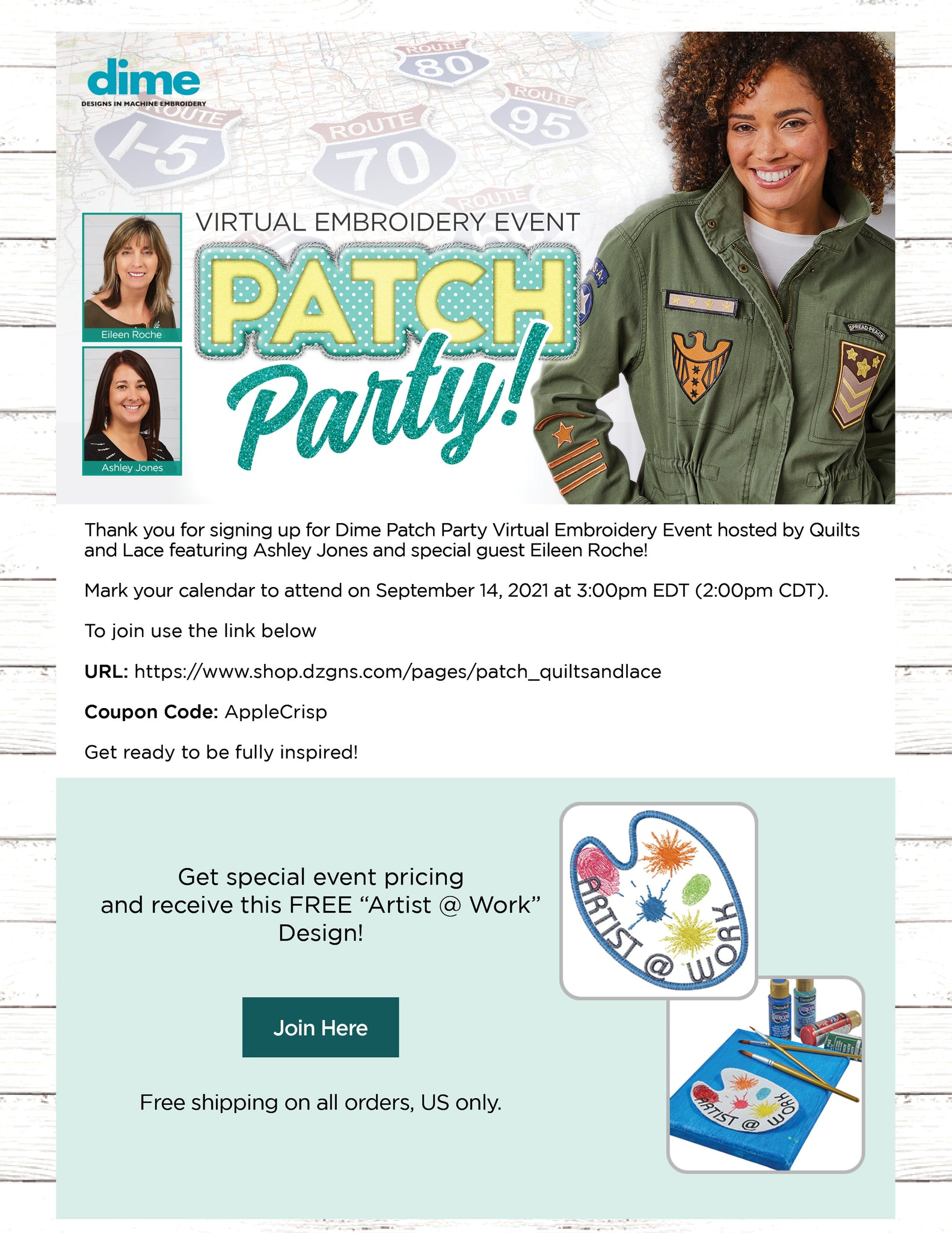 Flyer about the Patch Party