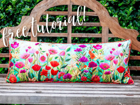 Bench Pillow with Piping