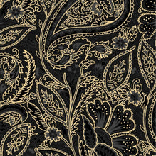 Load image into Gallery viewer, Maywood Studio Glad Tidings Black Elegant Paisley