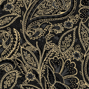 Maywood Studio Glad Tidings Black Elegant Paisley