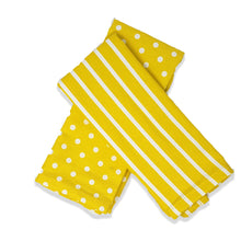 Load image into Gallery viewer, Kimberbell Dots & Stripes Tea Towels- Yellow